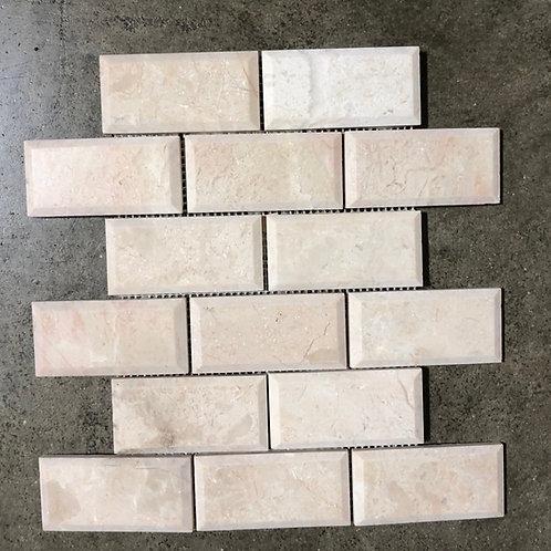 T-34 2x4 Crema Nova Marble Subway Tile