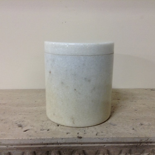 8.5x7.5 Granite Crystal White Cylinder Urn-C