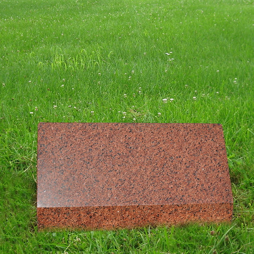 MN-150* India Red Granite Slant Monument