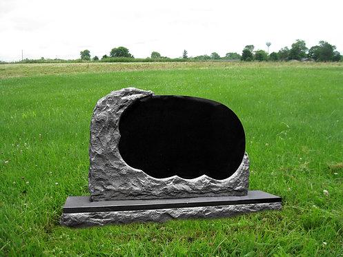 MN-14* Black Granite Unique Memorial Stone