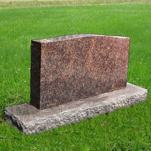 MN-35 Dakota Mahogany Granite Cemetery Tombstone