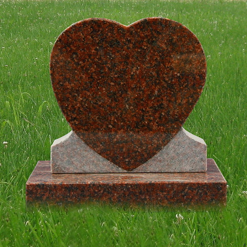 MN-180* Red Granite Heart Monument
