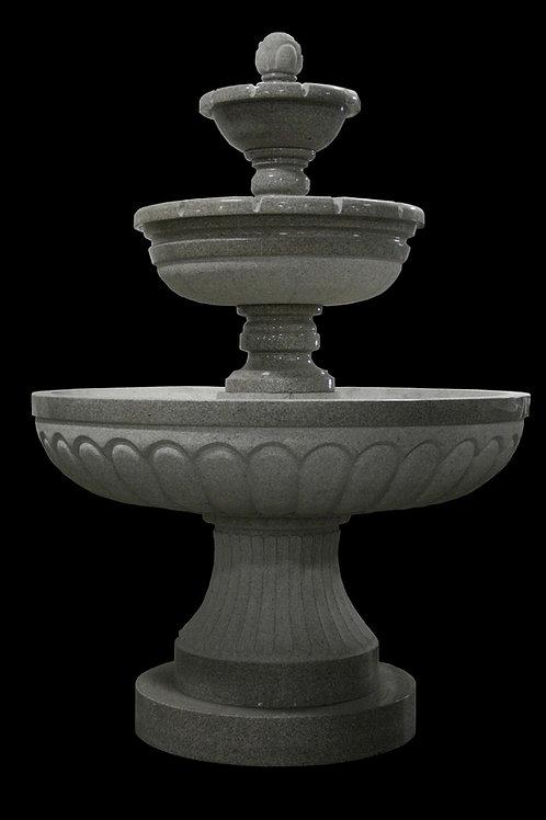 "FT-09-C Gray Granite 3 Tier  111"" Tall Fountain"