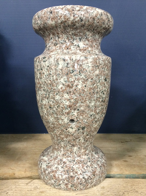 Plumb Rose Granite Monument Vase 12x6-A