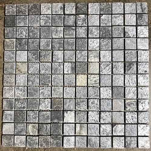 T-74 12x12 Dark Silver Mosaic 1x1 Natural Stone Tile