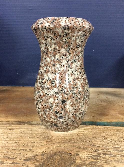 Plumb Rose Granite Monument Vase 7x4-D