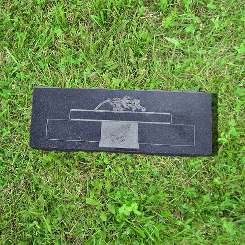 MN-158* Black Granite Flat Marker