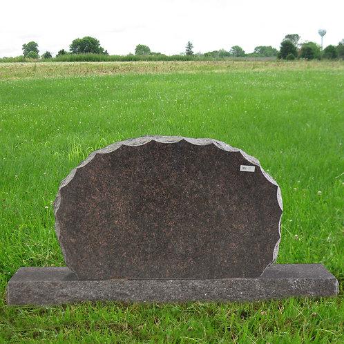 MN-11 Dakota Mahogany Sunburst Granite Monument