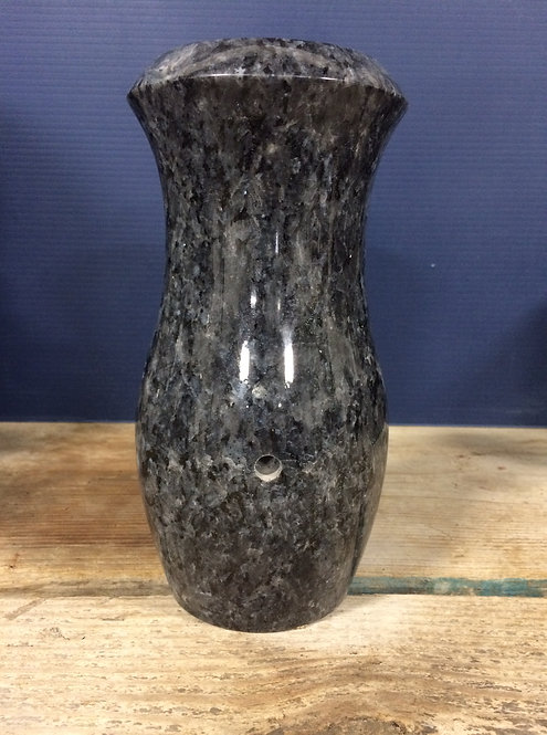 Blue Pearl Granite Monument Vase 7x4-D