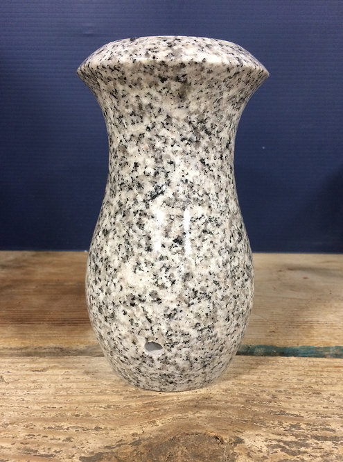 Classic Gray Granite Monument Vase 7x4-D
