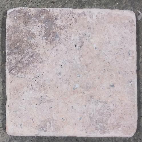 Travertine Tumbled 4x4 Arizona Sunset Natural Stone T-110