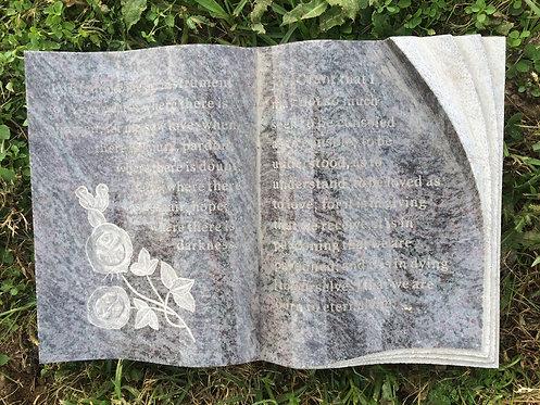 GB-12 Bahama Blue Granite Hand Carved Bible