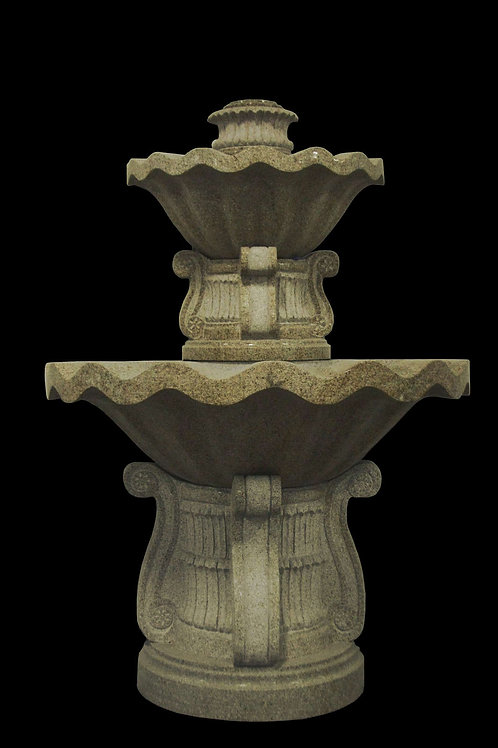 "FT-12 Granite Two Tier 84"" Tall Wall Fountain"