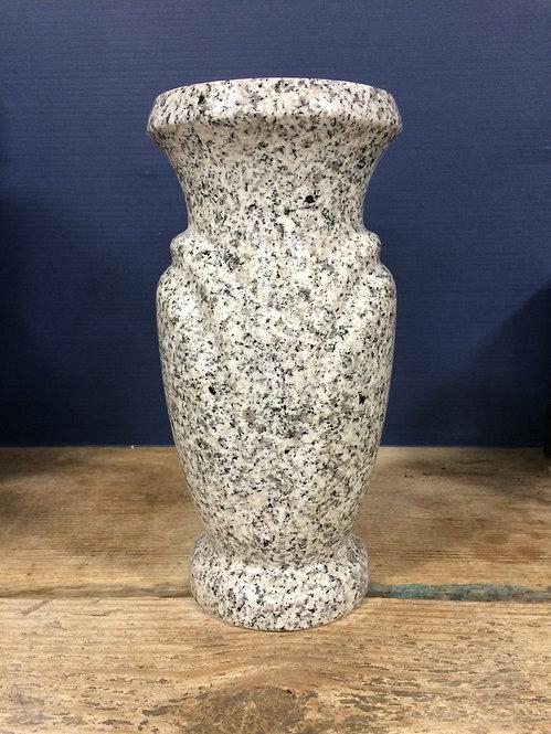 Lunar Pearl Granite Monument Vase 10x5-B