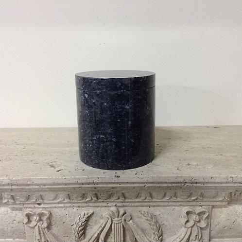 8.5x7.5 Granite Blue Pearl Cylinder Urn-C