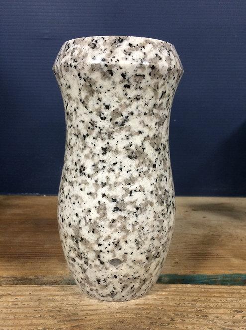 Lunar Pearl Granite Monument Vase 7x4-D