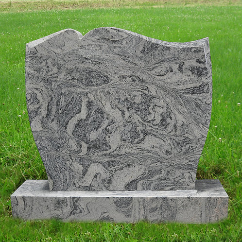 MN-45* Wavy Gray Granite Memorial Stone Marker