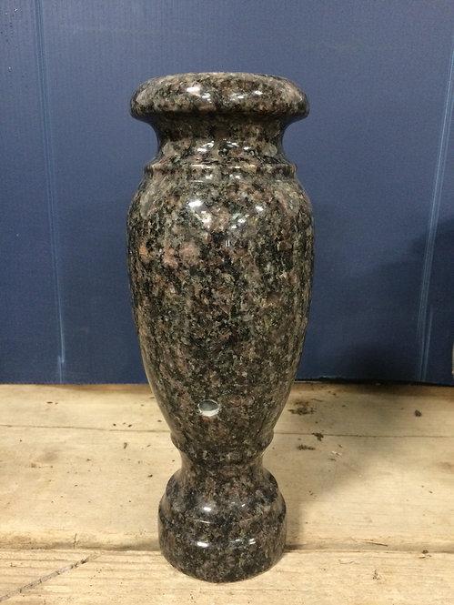 India Mahogany Granite Monument Vase 10x4-G