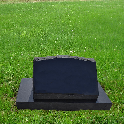 MN-144* Black Granite Slant on a base