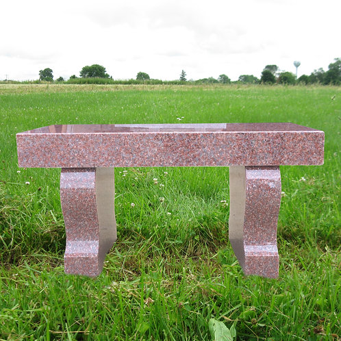 MN-233 India Red Granite Monument Bench