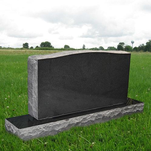 MN-29 Black Granite Cemetery Tombstone