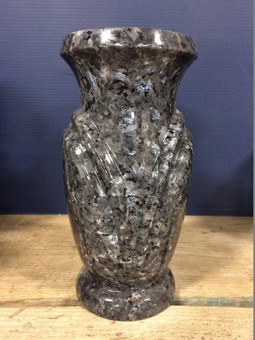 Blue Pearl Granite Monument Vase 10x5-B