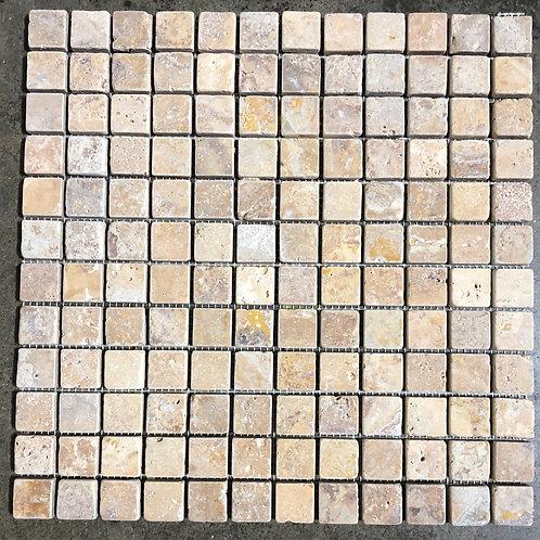 T-71 12x12 Goldrush Natural Stone Mosaic 1x1 Tile