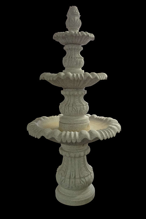 "FT-19-B Gray Granite 3 Tier 88"" Tall Fountain"