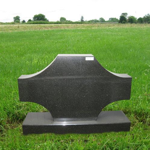 MN-91 Black Granite Cross Shape Stone Marker
