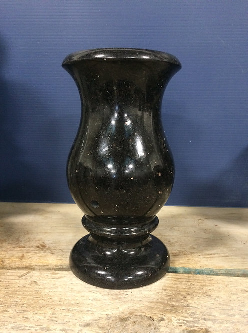 Black Galaxy Granite Monument Vase 9x5-C