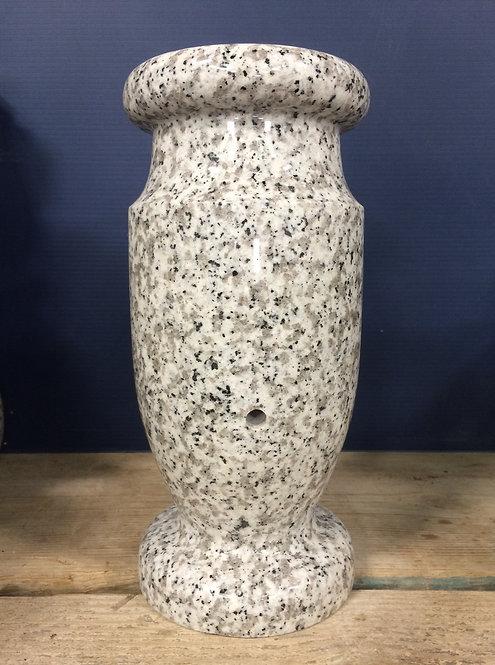 Lunar Pearl Granite Monument Vase 12x6-A