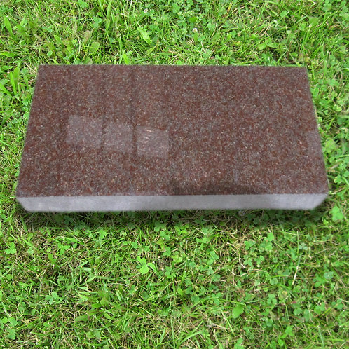 MN-225 India Red Granite Flat Marker 24x12x4