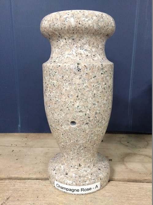 Champagne Rose Granite Monument Vase 12x6-A