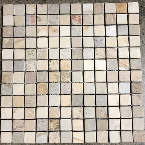 T-67 12x12 Indian Autumn Mosaic Natural Stone 1x1 Tile