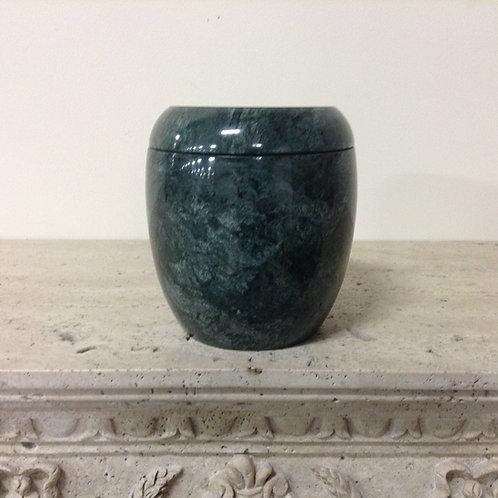 7.5x6 Marble Empress Green Urn-F