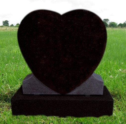MN-214 Black Granite Heart *Special Order*