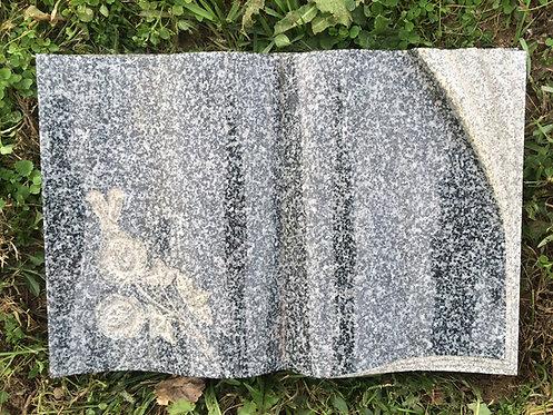 GB-17 Dark Gray Granite Hand Carved Bible Blank