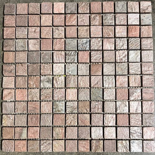 T-70 12x12 Copper Mosaic Natural Stone 1x1 Tile