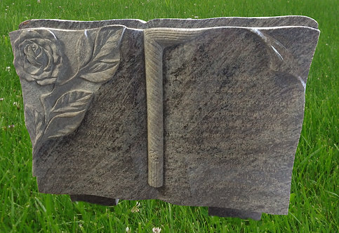 GB-15 Bahama Blue Granite Hand Carved Bible