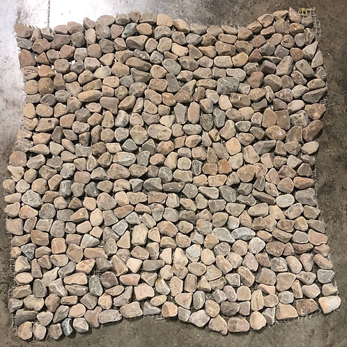 T-12 12x12 Taupe Micro Pebble Natural Stone Tile