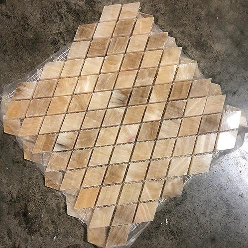 T-04 Honey Onyx Diamond Mosaic Tile