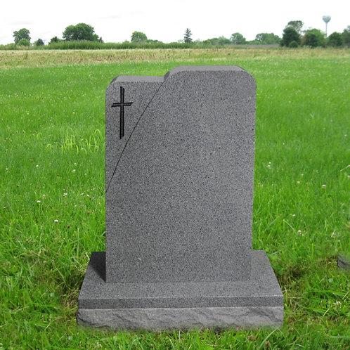 MN-103* Gray Granite Upright Monument