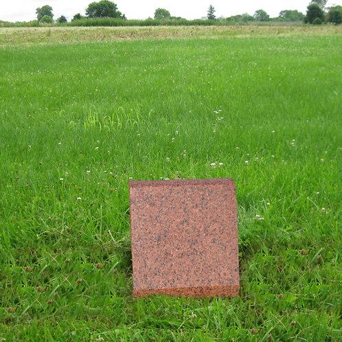 MN-149* India Red slant stone marker