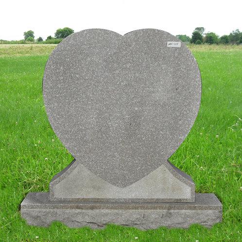 MN-115 Seashell Pink Granite Heart Memorial Stone