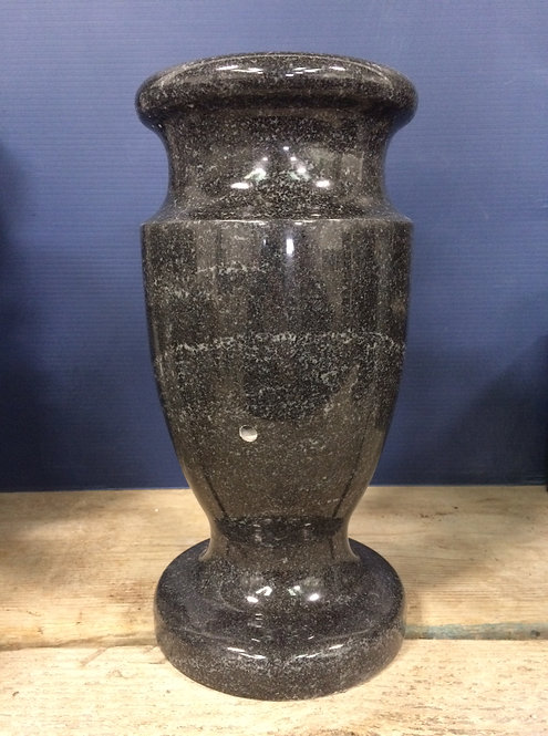Stardust Black Granite Monument Vase 12x6-A