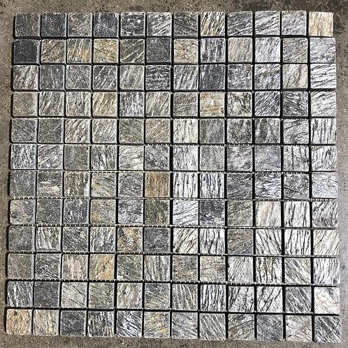 T-69 12x12 Deoli Green Natural Stone Mosaic 1x1 Tile