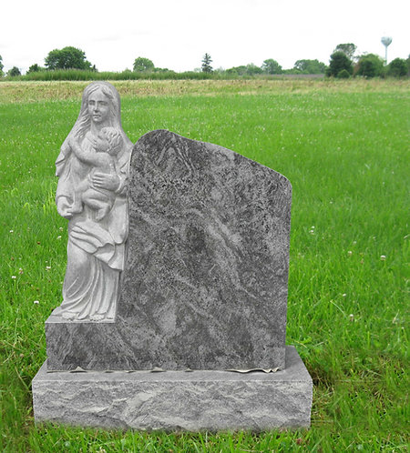 MN-08* Bahama Blue Mother With Baby Tombstone