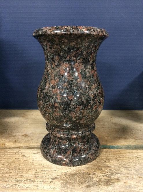 India Mahogany Granite Monument Vase 9x5-C