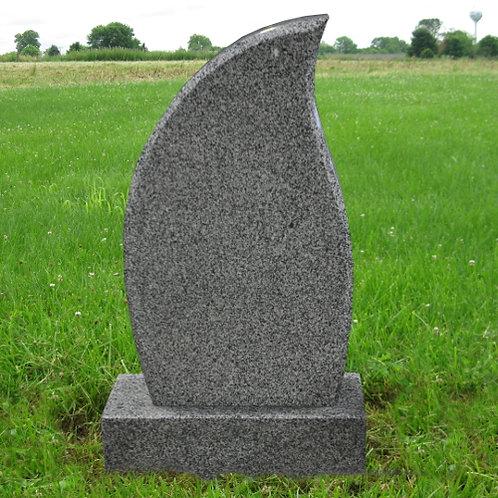 MN-118 Dark Gray Flame Shape Stone
