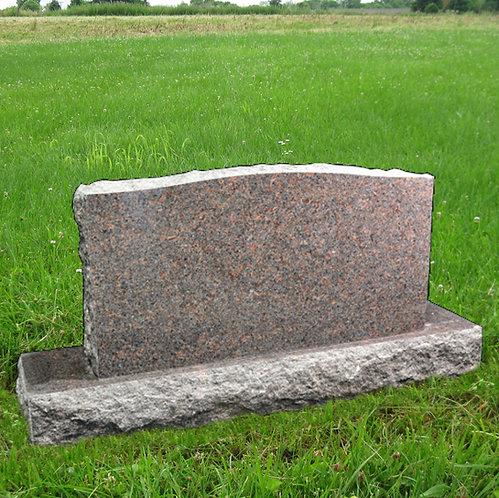MN-39 Dakota Mahogany Granite Cemetery Tombstone